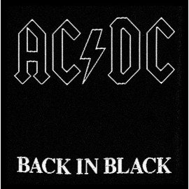 Ecusson AC/DC - Back in black