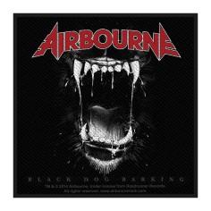 Ecusson Airbourne - Black dog barking