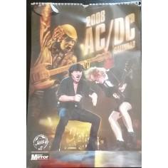 Calendrier vintage AC/DC 2008
