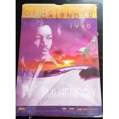 Calendrier vintage Jimi Hendrix 1998