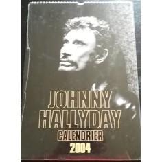 Calendrier vintage Johnny Hallyday 2004