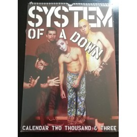 Calendrier vintage System of a Down 2003