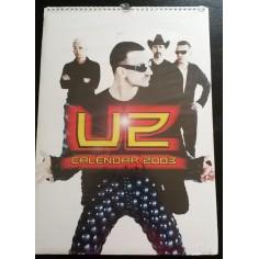 Calendrier vintage U2 2003