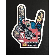 Sticker Sign of the horns Punk