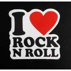 Sticker I love Rock n Roll