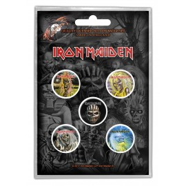 Badge Iron Maiden (set of 5) [Book]