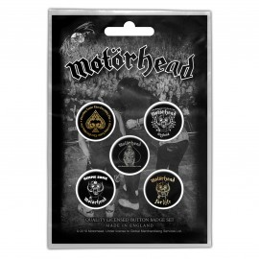 Badge Motorhead (set of 5) [Lemmy]
