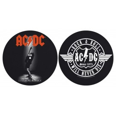 Turntable slipmat AC/DC (set of 2)