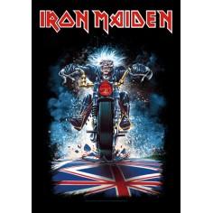 Flag Iron Maiden - Eddie biker