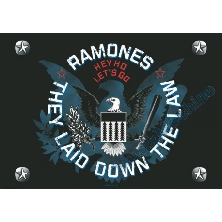 Flag Ramones - They laid down the law