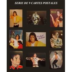 Postcard Michael Jackson (serie of 9 samples)