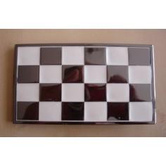 Belt buckle checkerboard