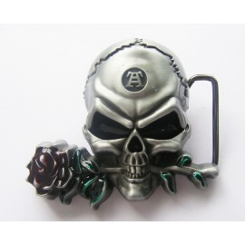 Belt buckle Skull - Rose