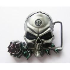 Boucle de ceinture Skull - Rose