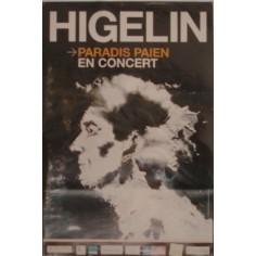 Poster Jacques Higelin - Paradis païen