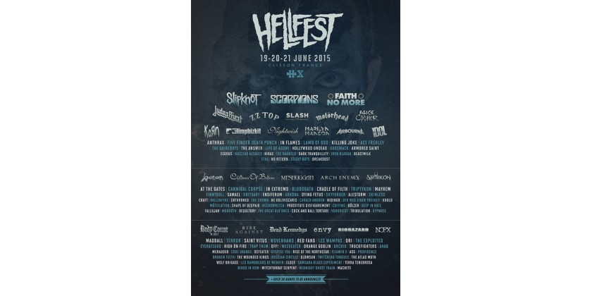 HellFest X 2015 line-up unveiled